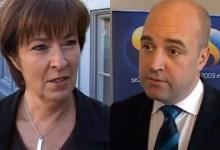 Två anställningsintervjuer med toppolitiker