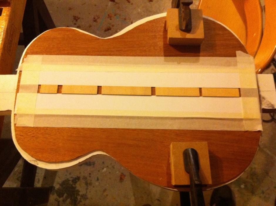 Gitarrbygge: Slipa ryggförstärkning